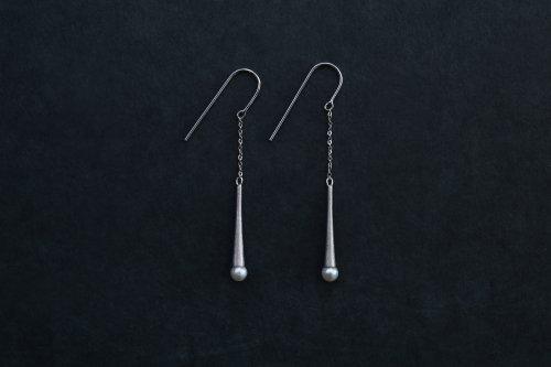 Raindrop pearl earrings