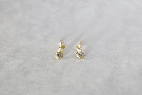 Whisper earrings + salt & pepper diamond