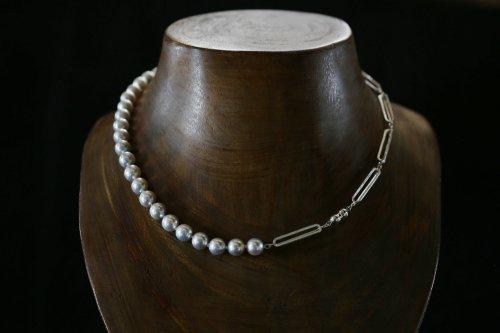 Original chain & pearl necklace / akoya