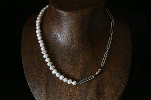 Original chain & pearl necklace / potato