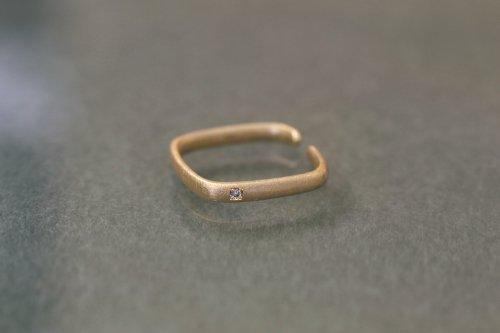 Syami ear cuff + light brown diamond / K18