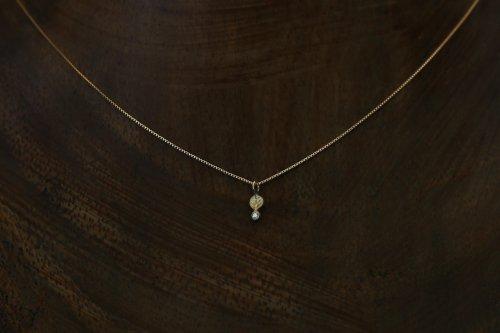 Leaf necklace / K18