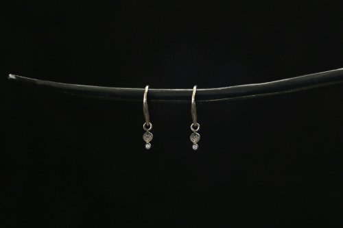 Leaf earrings / K18WG