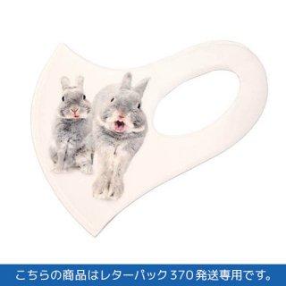 大きめサイズ・うさぎのふうた立体マスク(白)レターパック370
