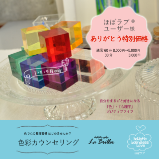 色彩カウンセリング-zoom【ほぼラブユーザー様】1・5・9月限定