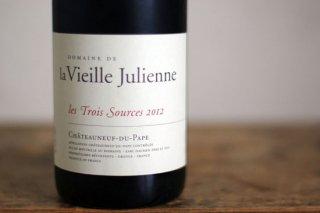 シャトーヌフデュパプ レ・トワ・ソース 2012 / ヴィエイユ ジュリアン (Chateauneuf du Pape les Trois Sources Vieille Julienne)