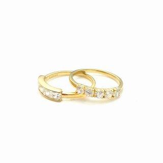 Five stones ring S  K10 SQUARE(四角)or ROUND(丸型)