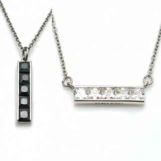 Five stones SQUARE pendant S