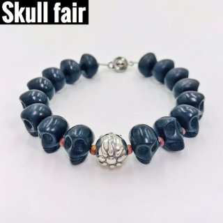 【Skull fair】スカルストーンブレス ブラック 【4個限定】