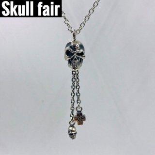 【Skull fair】ニヒルロングネックレス SV(シルバー)