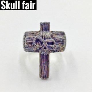 【Skull fair】Wood ニヒルクロスリング JRF