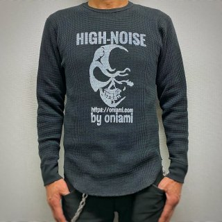 【NEW】ワッフルロングスリーブTシャツ ブラック