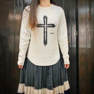 【NEW】ワッフルロングスリーブTシャツ バニラホワイト