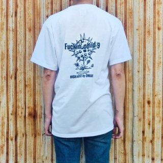 【2021NEW】HI-NOI スタッズドライコットンTシャツ ホワイト スタッズ無し バックプリント