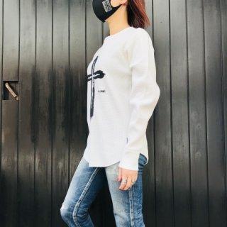 【2021NEW】HI-NOI ワッフルロングスリーブシャツ ホワイト