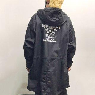 ★【2021NEW】HI-NOI スタッズモッズコート ブラック スタッズ無し