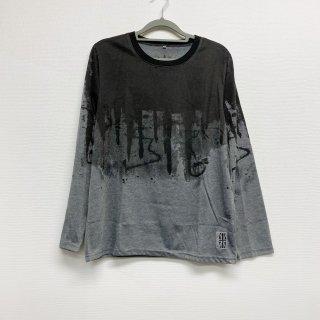 【2021NEW】HI-NOI ドリッピングシャツ  グレー/ブラック【数量限定】