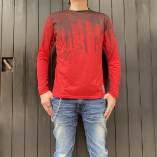 【2021NEW】HI-NOI ドリッピングシャツ  レッド/ブラック【数量限定】