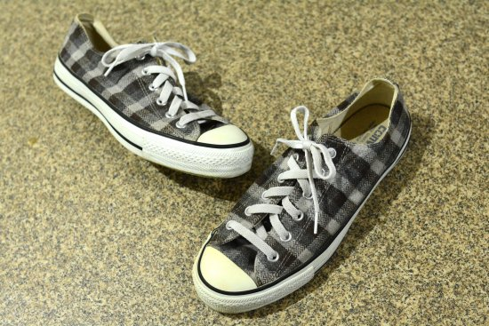 converse ALL STAR 90's Vintage ウール チェック ローカット (メンズ古着)