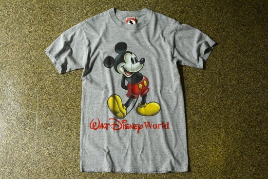 90's Vintage MICKEY,INC USA製 ミッキー Tシャツ 杢グレー (メンズ古着)