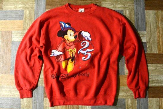 90's Vintage USA製 ウォルト ディズニー ワールド アニバーサリー ミッキー スウェット (メンズ古着)