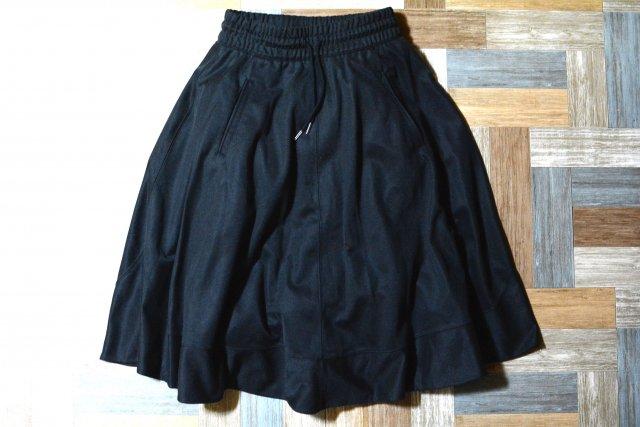 adidas ジャージ フレア スカート ブラック (レディース古着)
