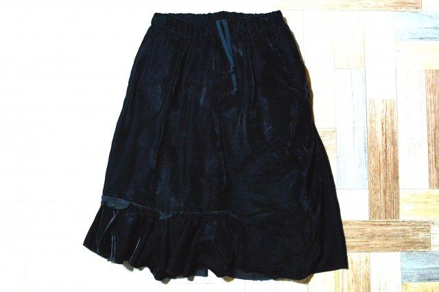BLACK COMME des GARCONS AD2009 シアー フリル スカート ブラック (レディース古着)