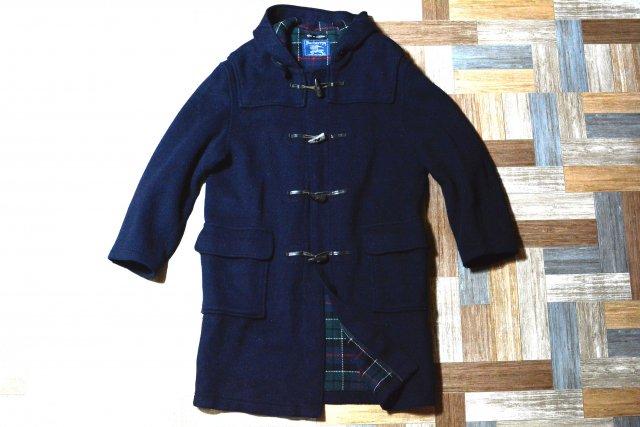 Vintage Burberrys イングランド製 ウール メルトン ロング ダッフル コート ネイビー (メンズ古着)