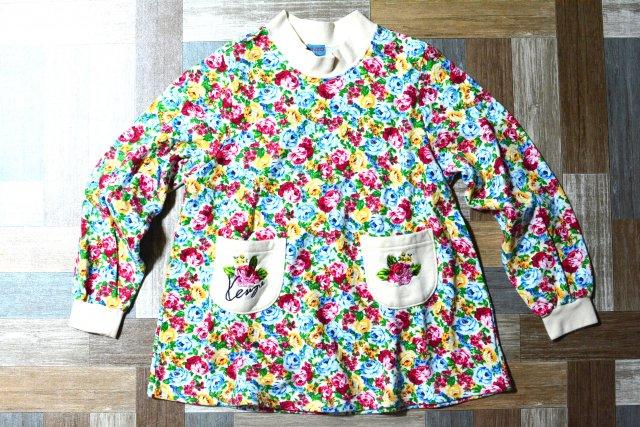 KENZO 花柄 Aライン スウェット ワンピース 150サイズ (キッズ古着)