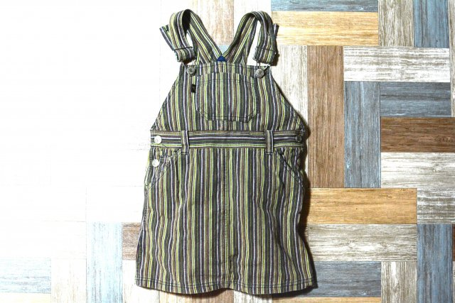 Paul Smith マルチストライプ ジャンパースカート 100サイズ (キッズ古着)