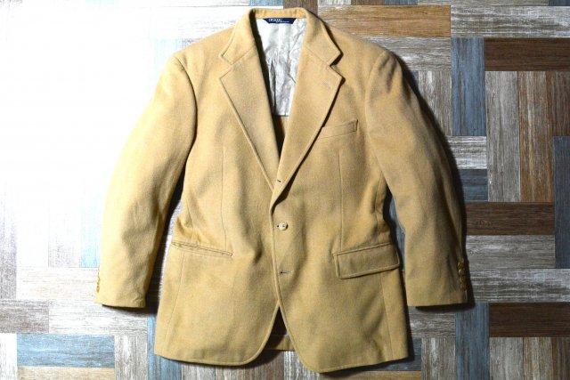 90's Vintage POLO RALPH LAUREN ウール 3B テーラード ジャケット キャメル (メンズ古着)