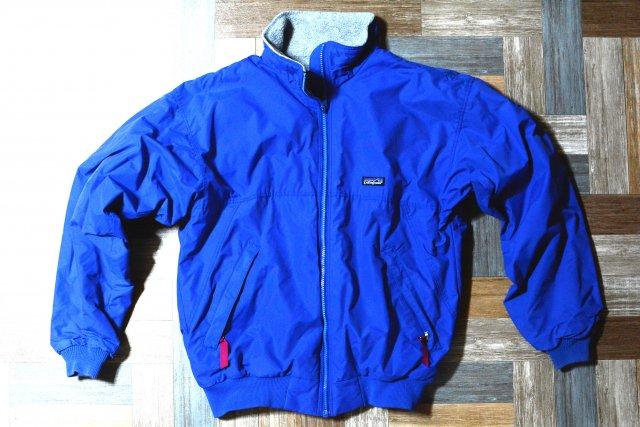 90's Vintage patagonia USA製 シェルドキャプリーン ジャケット ブルー (メンズ古着)