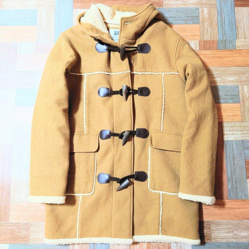 STUSSY ボア ライナー ダッフル コート キャメル (メンズ古着)