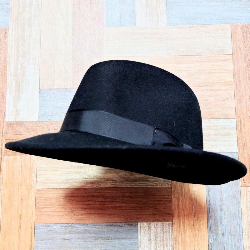 NEW YORK HAT USA製 ウール フェドラ ハット ブラック (USED&VINTAGE)