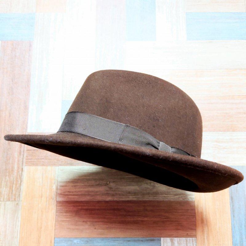 NEW YORK HAT USA製 ウール フェドラ ハット ブラウン (USED&VINTAGE)