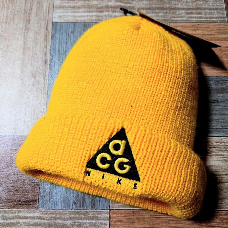 NIKE ACG ロゴ ニット キャップ イエロー DEAD STOCK (USED&VINTAGE)
