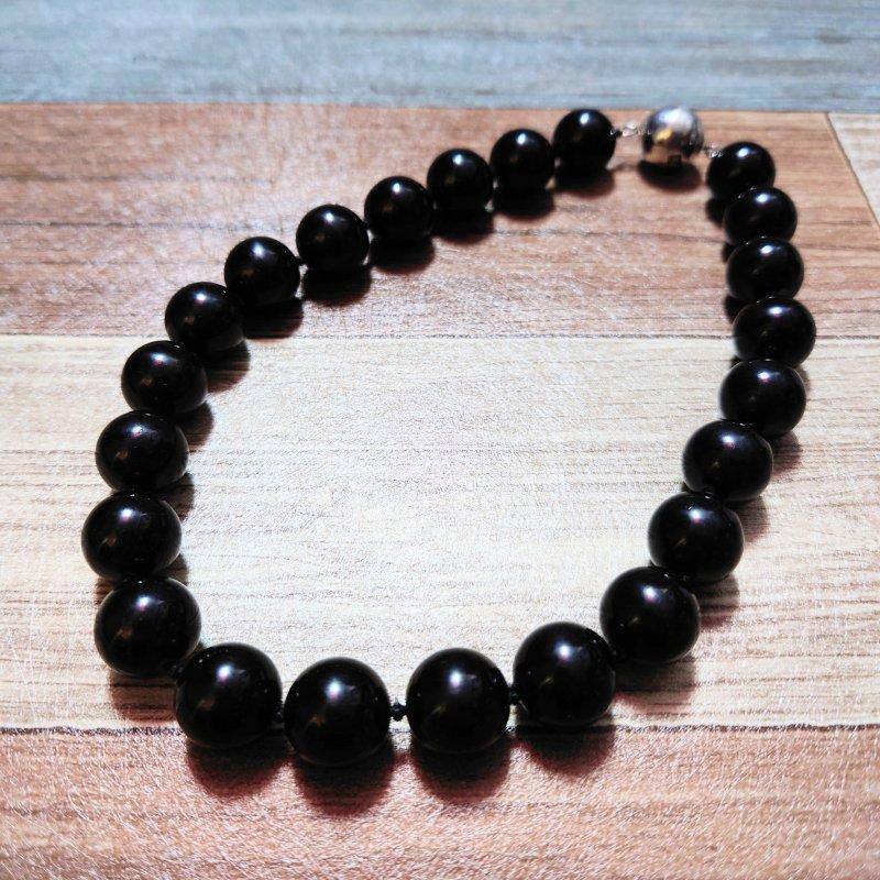 RALPH LAUREN 数珠 ネックレス ブラック (USED&VINTAGE)