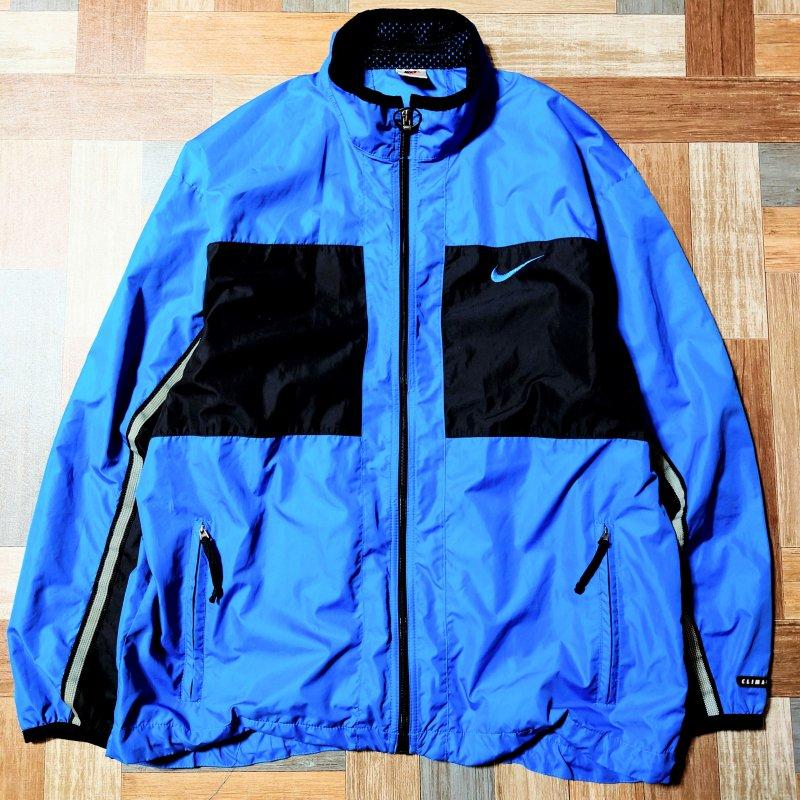 90's Vintage NIKE トラック ジャケット ブルー×ブラック (メンズ古着)
