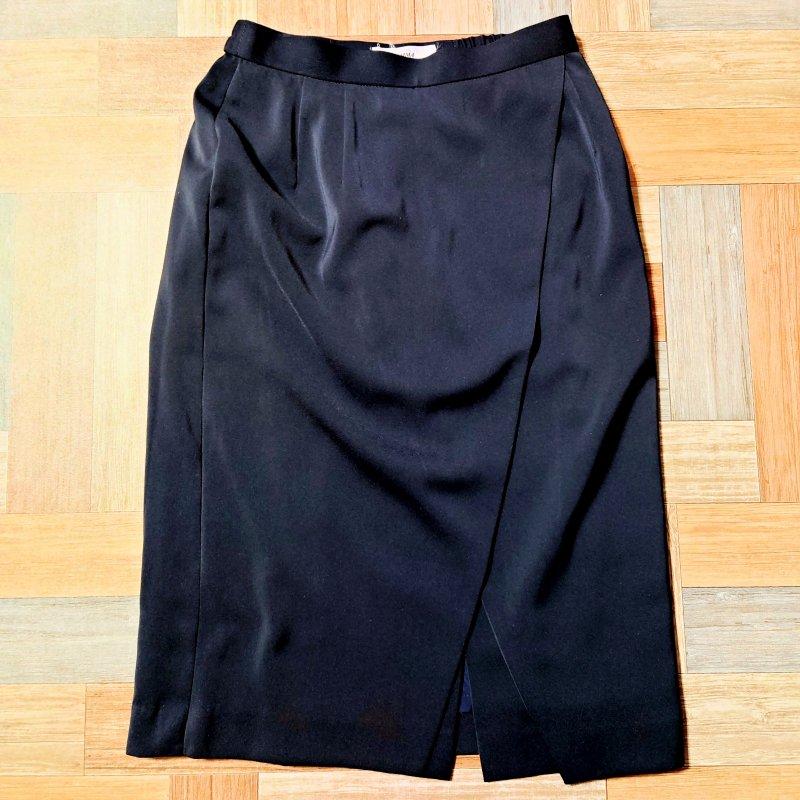 EMMA デザイン スカート ネイビー (レディース古着)
