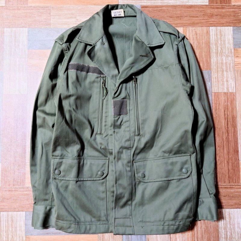 80's Vintage フランス軍 F2 ジャケット オリーブグリーン (メンズ古着)