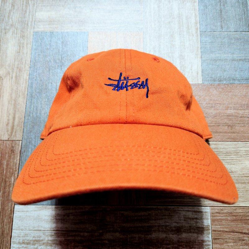 STUSSY ロゴ キャップ オレンジ (USED&VINTAGE)