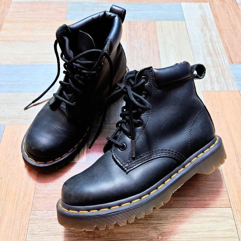Dr.Martens 6ホール ブーツ ブラック (レディース古着)