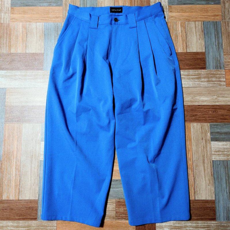 TSUMORI CHISATO ツータック ワイド クロップド パンツ ブルー (メンズ古着)