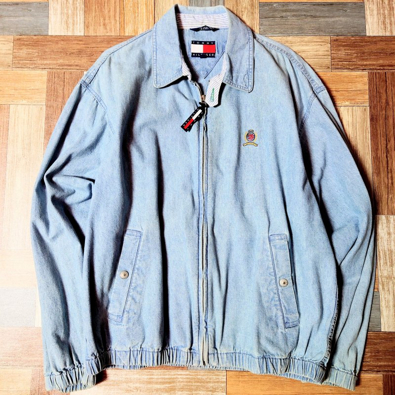 90's Vintage TOMMY HILFIGER デニム スイングトップ (メンズ古着)