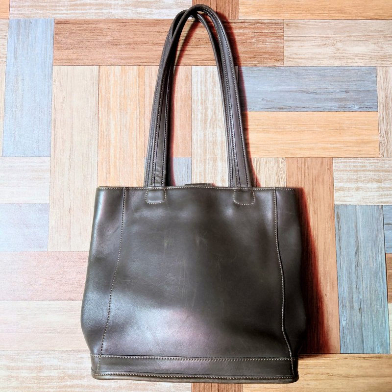 Vintage COACH USA製 レザー トートバッグ グレー (USED&VINTAGE)