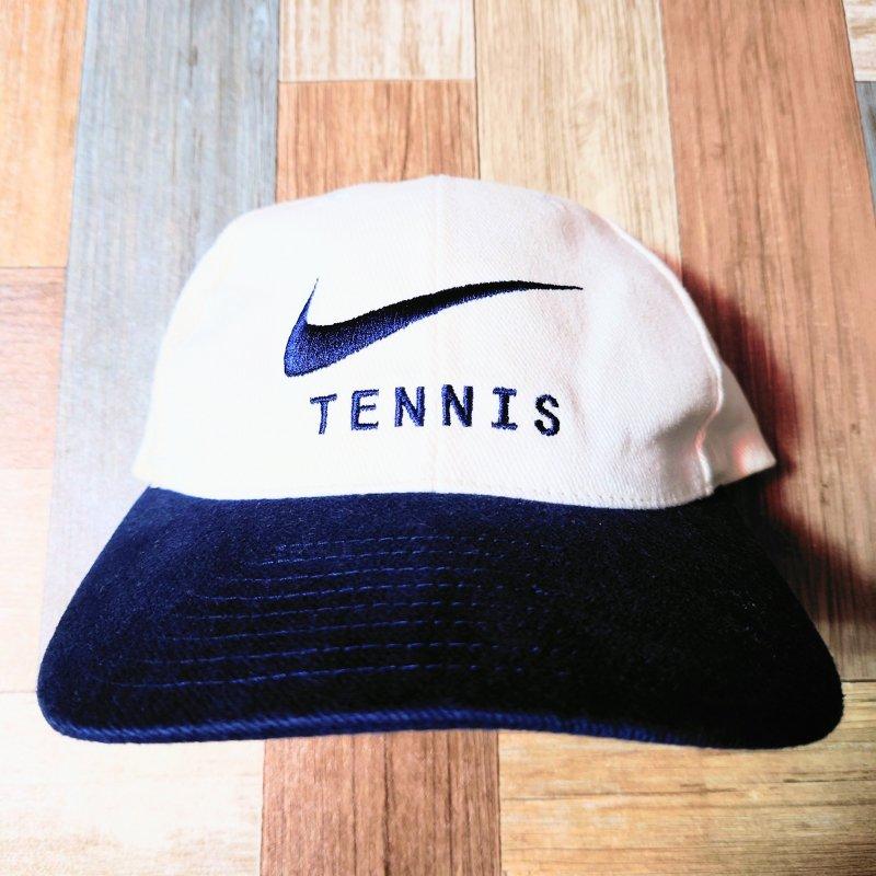 90's Vintage NIKE TENNIS ロゴ スナップバック キャップ (USED&VINTAGE)