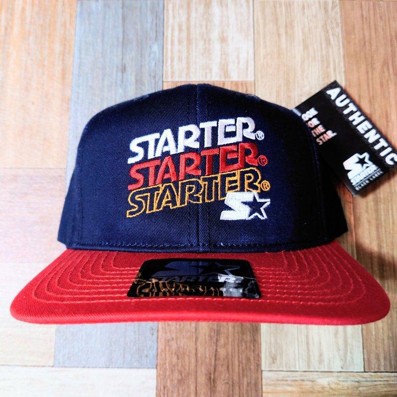 STARTER BLACK LABEL ツートン スナップバック ロゴ キャップ DEAD STOCK (USED&VINTAGE)