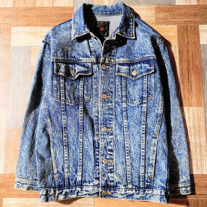 Vintage ケミカル デニム ジャケット 160サイズ (キッズ古着)