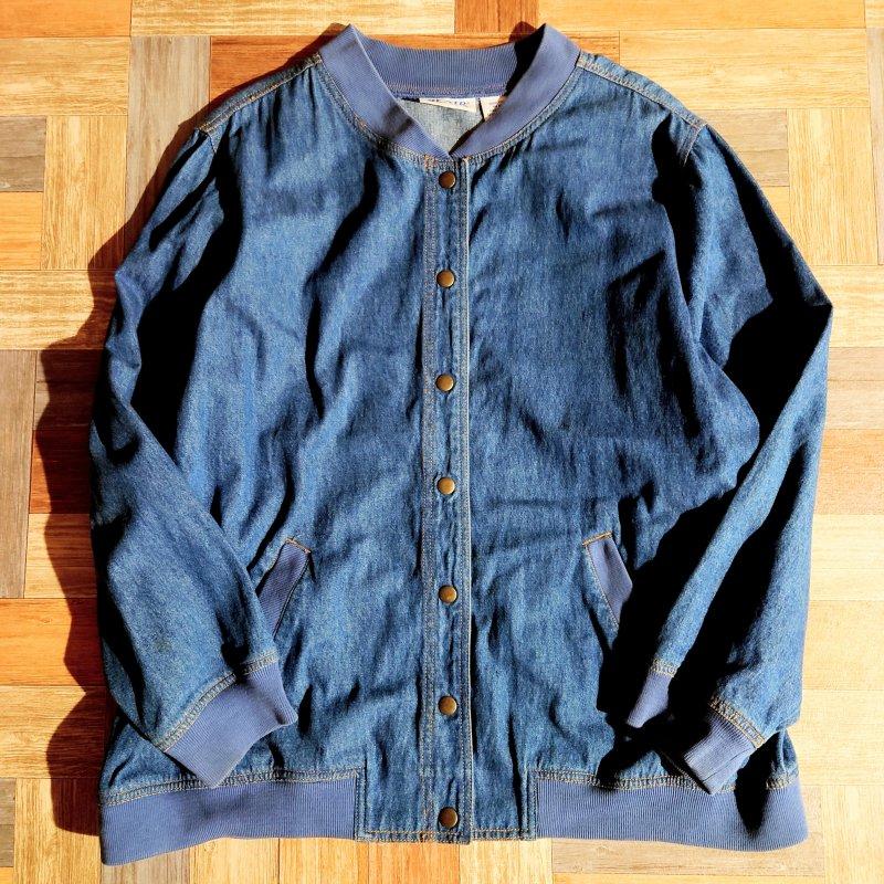90's Vintage BLAIR デニム バーシティ ジャケット (レディース古着)