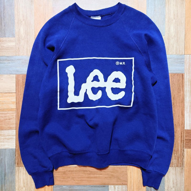 90's Vintage Lee USA製 ロゴ スウェット ネイビー (メンズ古着)